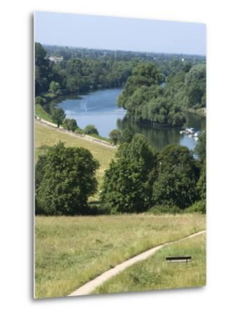 View Over the Thames From Richmond Hill, Richmond, Surrey, England, Uk--Metal Print