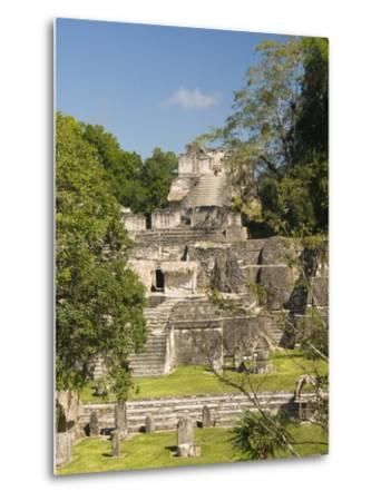 Great Plaza, North Acropolis, Tikal, UNESCO World Heritage Site, Tikal National Park, Guatemala--Metal Print