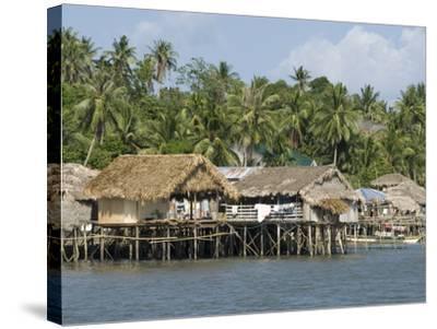 Fishermen's Stilt Houses, Pilar, Bicol, Southern Luzon, Philippines, Southeast Asia, Asia--Stretched Canvas Print