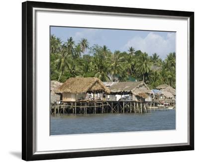 Fishermen's Stilt Houses, Pilar, Bicol, Southern Luzon, Philippines, Southeast Asia, Asia--Framed Photographic Print
