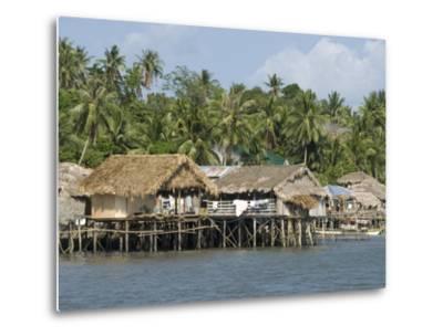 Fishermen's Stilt Houses, Pilar, Bicol, Southern Luzon, Philippines, Southeast Asia, Asia--Metal Print