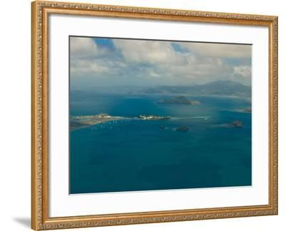 Aerial View of the Island of Grand Terre, French Departmental Collectivity of Mayotte, Africa--Framed Photographic Print