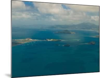 Aerial View of the Island of Grand Terre, French Departmental Collectivity of Mayotte, Africa--Mounted Photographic Print