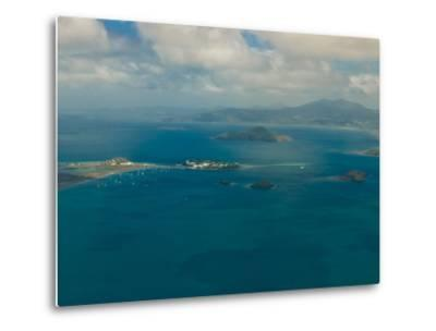 Aerial View of the Island of Grand Terre, French Departmental Collectivity of Mayotte, Africa--Metal Print
