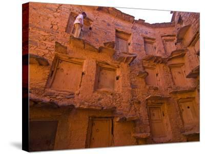 Old Ksar (Collective Granaries) in the Southern Part of Morocco Near Tafraoute, Morocco--Stretched Canvas Print