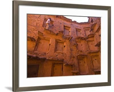 Old Ksar (Collective Granaries) in the Southern Part of Morocco Near Tafraoute, Morocco--Framed Photographic Print