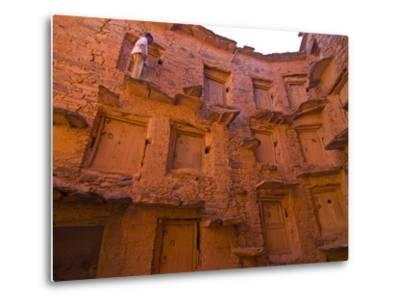 Old Ksar (Collective Granaries) in the Southern Part of Morocco Near Tafraoute, Morocco--Metal Print