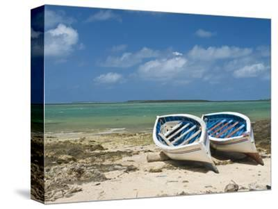 Fishing Boats on the Island of Rodrigues, Mauritius, Indian Ocean, Africa--Stretched Canvas Print
