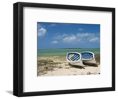 Fishing Boats on the Island of Rodrigues, Mauritius, Indian Ocean, Africa--Framed Photographic Print