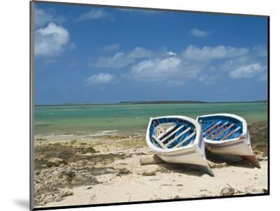 Fishing Boats on the Island of Rodrigues, Mauritius, Indian Ocean, Africa--Mounted Photographic Print