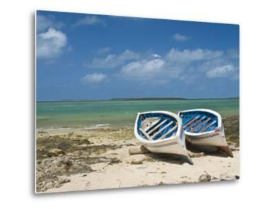 Fishing Boats on the Island of Rodrigues, Mauritius, Indian Ocean, Africa--Metal Print