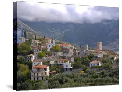 Little Mountain Village in the Lakonian Mani, Peloponnese, Greece, Europe--Stretched Canvas Print