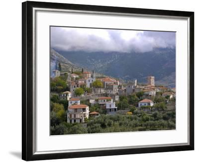 Little Mountain Village in the Lakonian Mani, Peloponnese, Greece, Europe--Framed Photographic Print