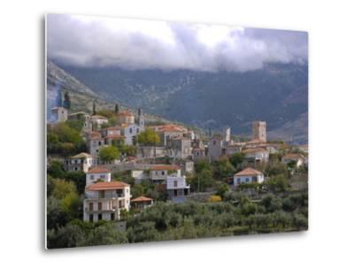 Little Mountain Village in the Lakonian Mani, Peloponnese, Greece, Europe--Metal Print