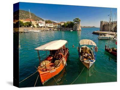 The Harbour of Nafpaktos, Central Greece, Greece, Europe--Stretched Canvas Print