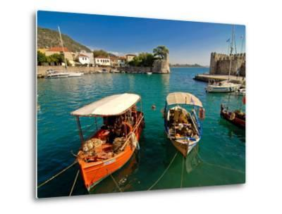 The Harbour of Nafpaktos, Central Greece, Greece, Europe--Metal Print