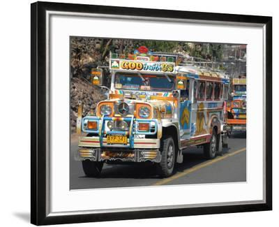 Typical Painted Jeepney (Local Bus), Baguio, Cordillera, Luzon, Philippines, Southeast Asia, Asia--Framed Photographic Print