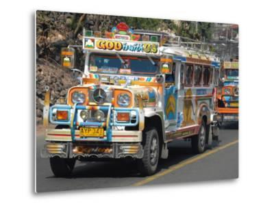 Typical Painted Jeepney (Local Bus), Baguio, Cordillera, Luzon, Philippines, Southeast Asia, Asia--Metal Print