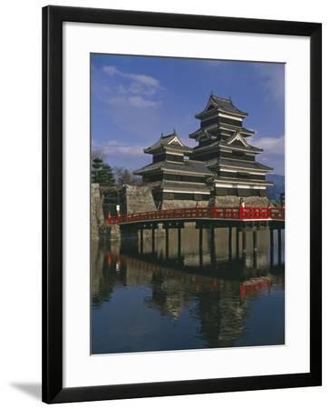 Matsumoto Castle and Moat, Nagano Ken, Japan, Asia--Framed Photographic Print