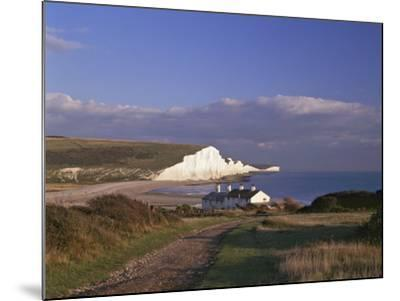White Chalk Cliffs of the Seven Sisters at Cuckmere Haven, Seen From Near Seaford, East Sussex--Mounted Photographic Print