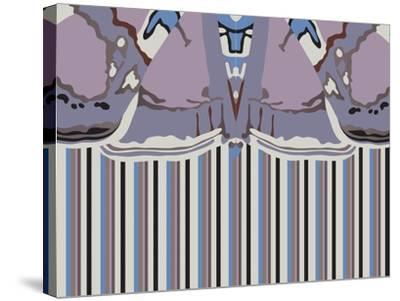 Violet Striped Ascension-Belen Mena-Stretched Canvas Print