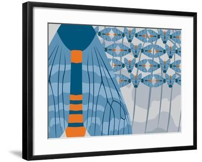 Icelandic Blue Bees-Belen Mena-Framed Giclee Print