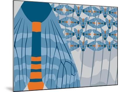 Icelandic Blue Bees-Belen Mena-Mounted Giclee Print