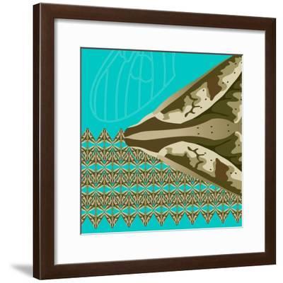 Turquoise Kai-Belen Mena-Framed Giclee Print