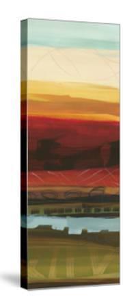 Skyline Symmetry Panel II - Stripes, Layers-Jeni Lee-Stretched Canvas Print