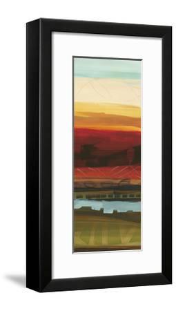 Skyline Symmetry Panel II - Stripes, Layers-Jeni Lee-Framed Premium Giclee Print