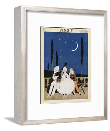 Vogue Cover - August 1913-Arthur Finley-Framed Premium Giclee Print