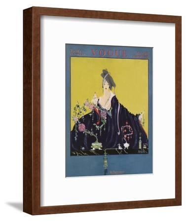 Vogue Cover - November 1916-Robert Kalloch-Framed Premium Giclee Print