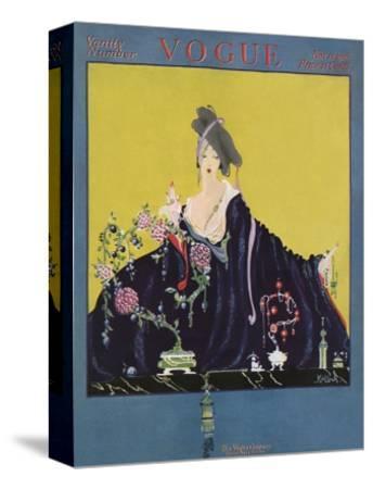 Vogue Cover - November 1916-Robert Kalloch-Stretched Canvas Print