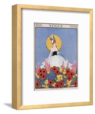 Vogue Cover - January 1915-Margaret B. Bull-Framed Premium Giclee Print