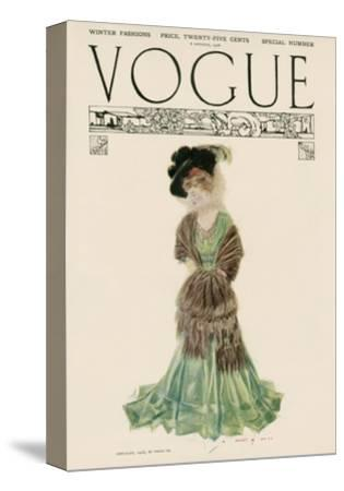 Vogue Cover - December 1906--Stretched Canvas Print