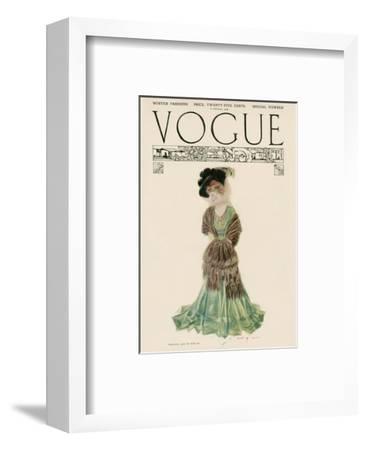 Vogue Cover - December 1906--Framed Premium Giclee Print
