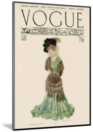 Vogue Cover - December 1906--Mounted Premium Giclee Print
