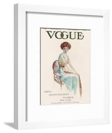 Vogue Cover - February 1909-Jean Parke-Framed Premium Giclee Print