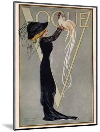 Vogue Cover - July 1910--Mounted Premium Giclee Print