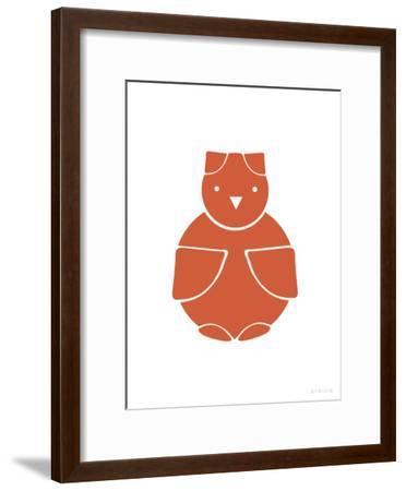 Orange Owl-Avalisa-Framed Art Print
