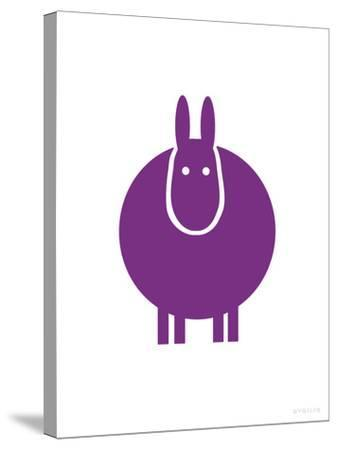 Purple Donkey-Avalisa-Stretched Canvas Print