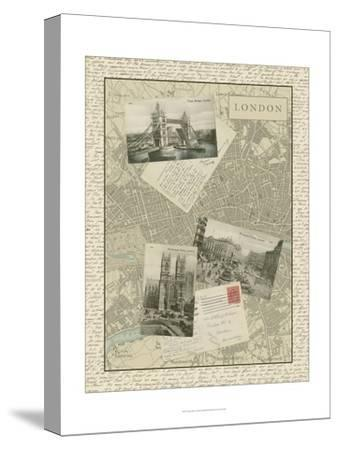 Vintage Map of London-Vision Studio-Stretched Canvas Print