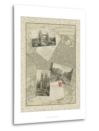 Vintage Map of London-Vision Studio-Metal Print
