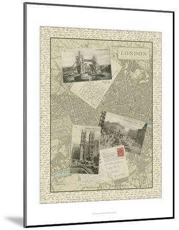 Vintage Map of London-Vision Studio-Mounted Art Print