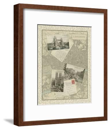 Vintage Map of London-Vision Studio-Framed Art Print