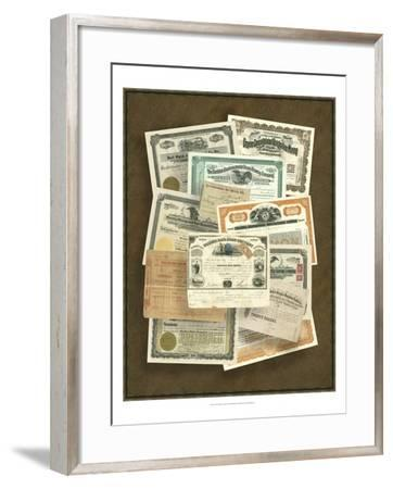 Stock Certificate Collection--Framed Art Print