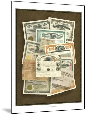 Stock Certificate Collection--Mounted Art Print