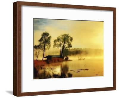 Fishin' Boat-Danny Head-Framed Art Print