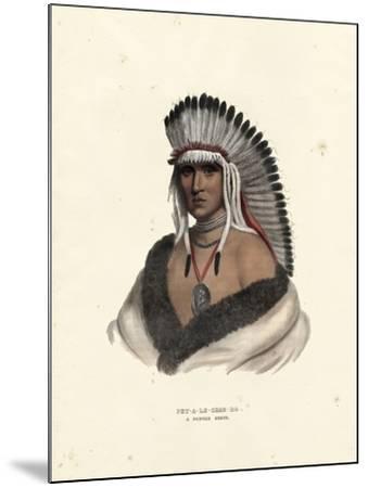 Pawnee Brave-McKenney & Hall-Mounted Art Print