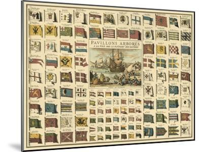 Display of Flags--Mounted Art Print